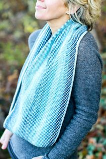 """""""Wollman Rink Cowl"""" knitting pattern by Michele Wang."""