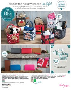 Thirty One October 2016 Custoomer Special  These amazing holiday items are available at www.mythirtyone.com/kristys31obsessed but at anytime feel free to contact me with questions