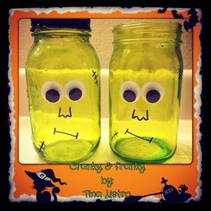 Frankenstein Mason Jars by Tina Listro