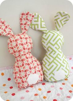 Bunny Pattern Template plus 18 Free Easter Bunny Sewing