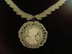 Vintage Crochet Necklace Elegkant Jewelry by DesignByIrenne