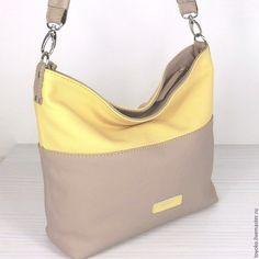 """Купить """"Пастель"""" сумка кожаная, хобо, цвет 4 и 19. - однотонный, сумка, женская сумка"""