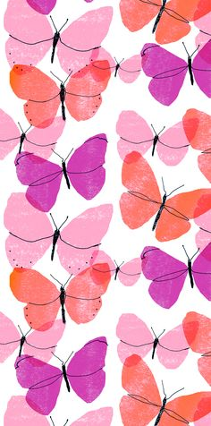 Alanna Cavanagh Butterflies: Purpley colourway #pattern