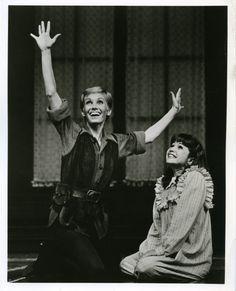 Sandy Duncan and Marsha Kramer as Peter and Wendy in Peter Pan. source: ebay
