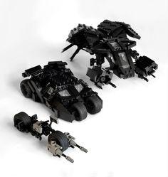 legoexpress:  The Dark Knight Vehicles (by Simple1DEA)