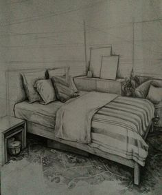 bedroom design,interior design,carpet detail,drawing
