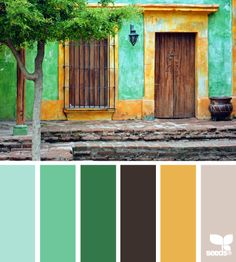 global hues - design seeds Might be a side effect of the long winter, but I am digging the green palette.