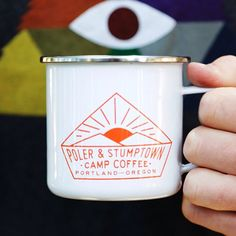 Here's a closer look at the mugs in our #campcoffee kit we made with @Andy Yang Yang Morris! Check it out online or @polerportland and in @Andy Yang Yang Morris cafes! We're probably going to sell out soonish so swoop one if you want. #campvibes www.polerstuff.com by polerstuff