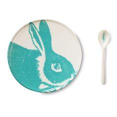 Ensemble repas Lapin Bleu - claradeparis.com loves the carrot spoon!