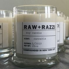 Introducing CANNABIS scented candles in 12oz status jars. An addictive scent that will fill your space and give it true personality (and is already our best selling) . . . . #raw #razzi #candles #luxury #home #decor #handmade #handcrafted #gifts #giftideas #giftideasforhim #giftsforher