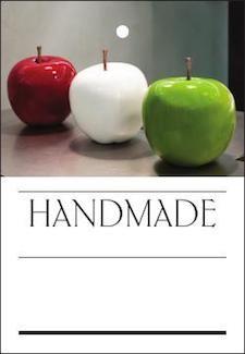 needle storage, home decoration Needle felted Big White Apples .