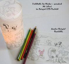 Lichthülle- für Kinder zum selber ausmalen