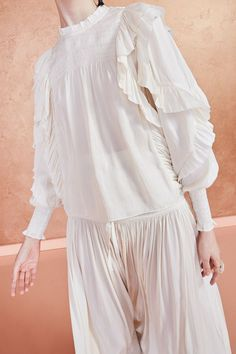 Jessamine Blouse - Ivory   Free Shipping on all U.S. Orders Ella Moss, Ulla Johnson, Ivory, Ruffle Blouse, Free Shipping, Medium, Sleeves, Women, Fashion