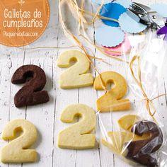 Recetas para niños de galletas para cumpleaños. Ideales para regalar en el cole