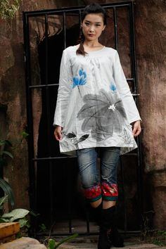 Long Sleeve Shirt Women Blouse Plus Size Custom Size Made to Order on Etsy, $62.00