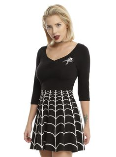 Kreeptacular! // Kreepsville 666 Spiderweb Skater Dress