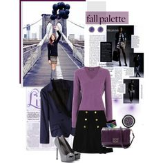 """""""Fall Palette Purple"""" by ellie366 on Polyvore"""