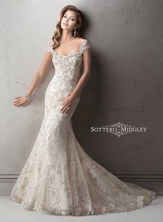 Half Sleeve lace Wedding Dress # Mermaid Long Sleeve lace Wedding ...