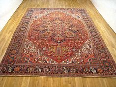 "Persian: Geometric 13' 8"" x 11' 0"" Vintage Heriz at Persian Gallery New York - Antique Decorative Carpets & Period Tapestries"