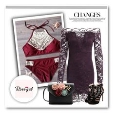 """""""Rosegal purple dress"""" by newoutfit ❤ liked on Polyvore"""