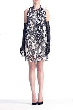 @DVF Morana Dress in Simple Chains Dust, Fall 2012: Rendez-vous