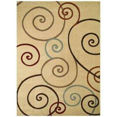 Chester Scroll Ivory 5 ft. 3 in. x 7 ft. 3 in. Area Rug