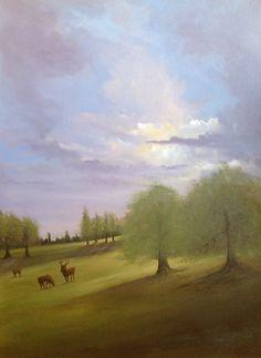 #woburndeerpark #woburnabbey recent oil painting