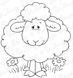 Whimsy Stamps - Rubber Stamps, Clear Stamps, and Farm Animal Coloring Pages, Coloring Books, Sheep Crafts, Sheep Art, Cute Sheep, Whimsy Stamps, Penny Black, Pottery Painting, Stuffed Animal Patterns