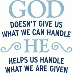 Silhouette Design Store: god helps us handle what we are given