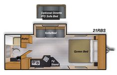 Camplite 21RBS Floorplan 24 feet long. GVWR 5,000 lbs Exterior Colors, Interior And Exterior, Camper Flooring, Lightweight Travel Trailers, Little Campers, Solid Surface Countertops, Trailers For Sale, Wood Laminate, Plank Flooring