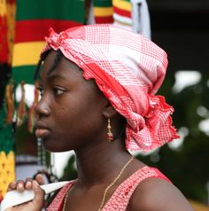 A young girl from Suriname at Keti Koti 1July, 2009. Keti Koti is the Emancipation Day (end of slavery) in Suriname. Paramaribo, Suriname