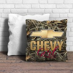 This is chevy girl pillow cushion -Removable poly/cotton cover pillows are soft…