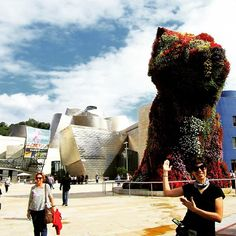 Welcome to the Guggenheim Museum. This adorable vertical jardin is The Puppy eventhough it's supposed  to be a dog it looks like our bunnie Moshi!  #museum #culture #puppy #bilbao #spain #placeok #travelblog #travelbloggers #travelinspector #travel #awesome #happy #bestoftheday #igers #amazing #photooftheday #cute #followme #like4like #repost #instagood #instamood #fun #follow #pretty #cool #iamtb #travelstoke