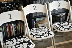 Sophia's: I would love to redo my metal folding chairs to look like these.