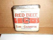 Bagley's Red Belt Tobacco Tin