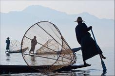 Fishermen at Dawn on Inle Lake - © 2010 Chris Martin