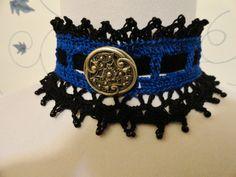 very different Gothic Vampire Noir Steampunk Crochet Bloyal Blue by Scarletrabbit,