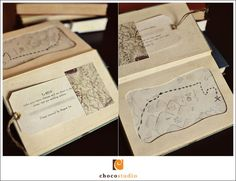 Book Wedding Invitations DIY Kit by mismikado on Etsy - Love the book on the inside cover!