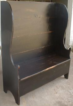 Settlers Flip Seat Bench ~ Wonder how I could make one of these.........  this would be a fun project!