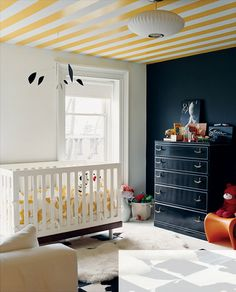 Totally Modern Timelessness - ceiling stripes
