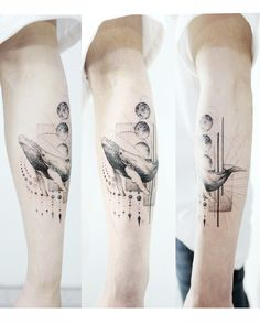 "7,558 Me gusta, 35 comentarios - Tattooist Banul (@tattooist_banul) en Instagram: "": Whale+geometric . For hair designer . . #tattooistbanul #tattoo #tattoos #tattooart…"""