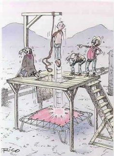 A funny picture of an April fools joke at a public hanging. A cartoon humor photo, comedy pic and humorous comic strip to see. Comedy Pictures, Funny Cartoon Pictures, Funny Images, Best Funny Pictures, Funny Photos, April Fools Day Jokes, April Fools Pranks, Adult Cartoons, Funny Cartoons