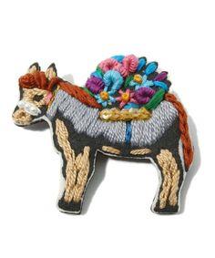 Donkey Brooch