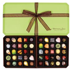 2015 New Core Line 50 piece gift box [nothing I like more than PRETTY chocolates. or ANY chocolates for that matter. Norman Love, Crazy Cookies, Eyeshadow, Candy, Simple, Creative, Pretty, Chocolate Boxes, Gifts