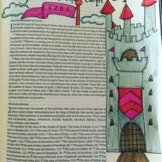 All the kingdoms of the earth Ezra 1, Psalm 13, Journaling, Illustrated Faith, Bible Journal, Scripture Verses, Homeschooling, Study, Earth