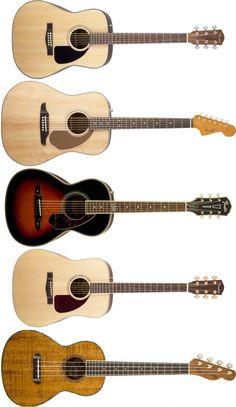 5 Great Fender Beginner Acoustic Guitars