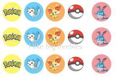 Freebies: Pokemon bottle cap images (freebie)