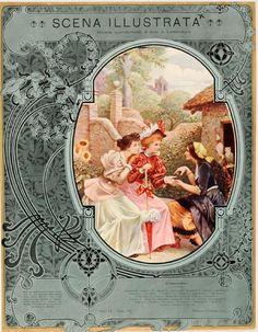 """""""Scena Illustrata""""  Cover by Anichini 1900-20 - original"""