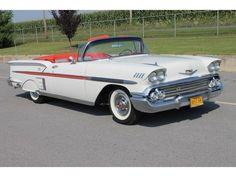 1958 Chevrolet Impala Convertible #chevroletclassiccars