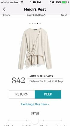 Like the v neck and tie detail to elevate an otherwise casual top.  Get clothes like these from https://www.stitchfix.com/referral/6915672?sod=a&som=c